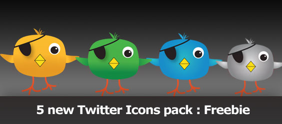5 new Twitter Icons pack