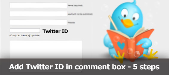 Add Twitter Id field to comment form in 5 easy steps