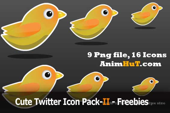 Cute Twitter Icon Pack-II