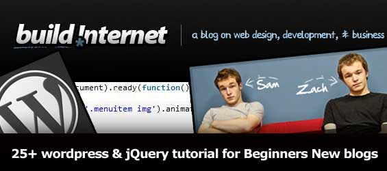 25+ wordpress and jQuery tutorials for Beginners newly created blog