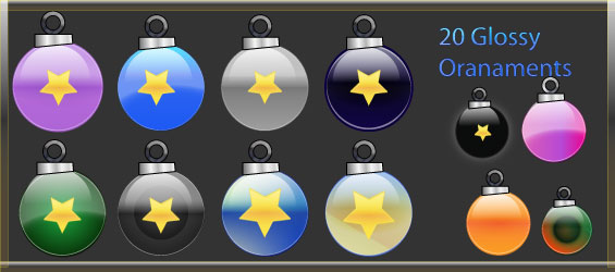 Christmas Ornaments | Vector Pack #1