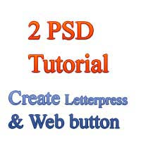 Create Letterpress effect and web download button with PSD