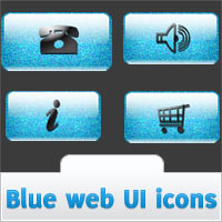 Freebie: Blue Glossy UI Icons