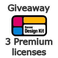 Giveaway: 3 premium license for Banner Design Kit