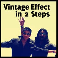 Quick-tip: Create a Vintage effect in 2 Steps