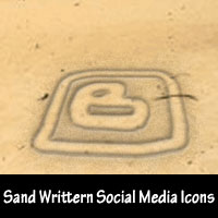 Freebie: 23 Sand Written Social Media Icons