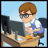 Free Vector Character – The Programmer