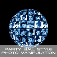 Photoshop: Create a party ball style photo-manipulation