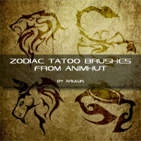 Freebie: Zodiac Tattoo brushes