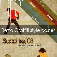 PS Tutorial: Create a graffiti retro style poster
