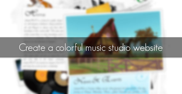 Create a colorful music studio website