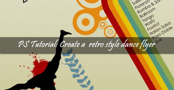 Create a retro style dance flyer