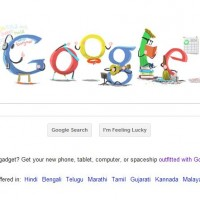 "Today's 2012 First Google Doodle "" New Year's Day """