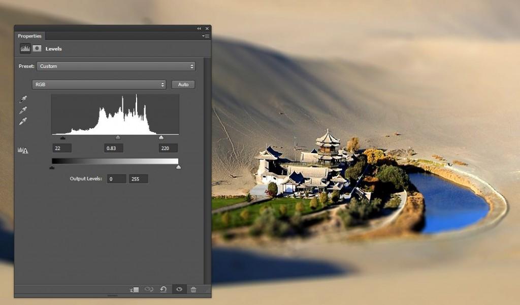 applying levels in photoshop CS6
