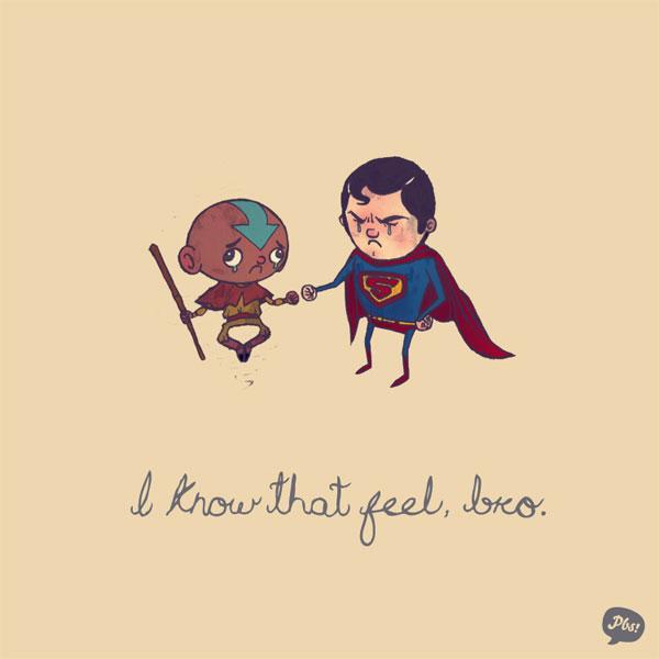 Super Heroes illustrations