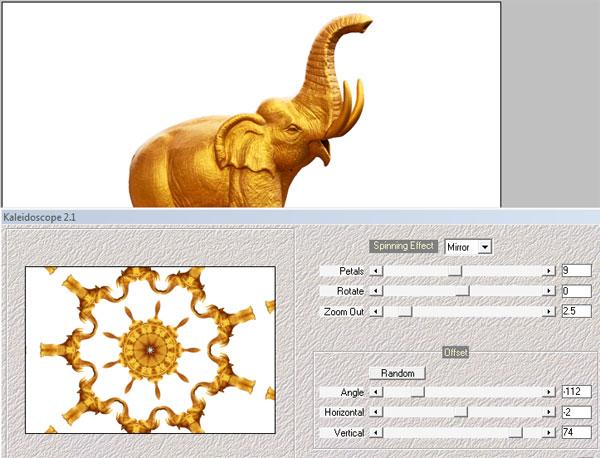 Golden Elephant idol