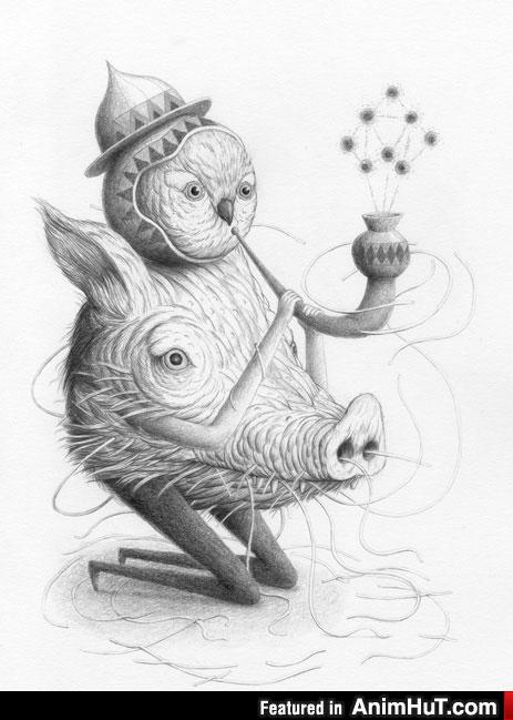 Unique Odd Character Illustrations