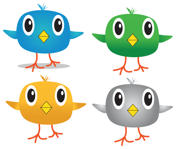 Twitter icon pack with large eyes