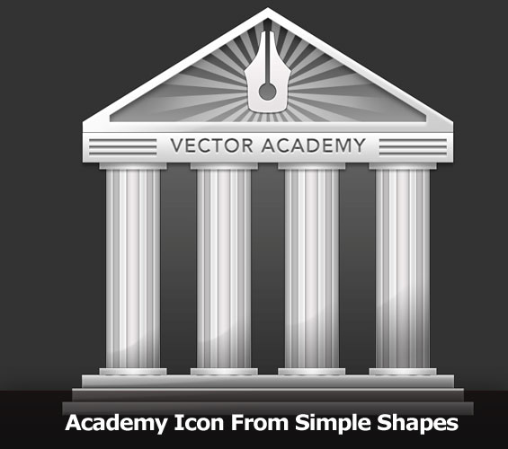 Academy Icon From Simple Shapes