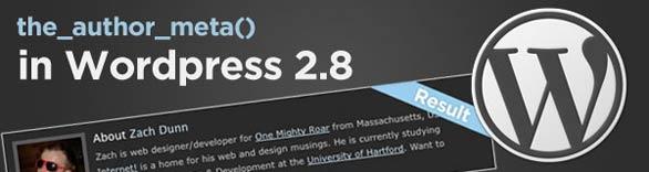 Displaying Author Meta Information in WordPress 2.8