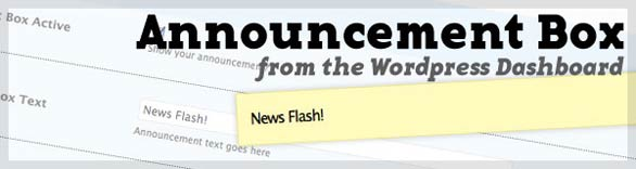 How to Add an Announcement Box to Your WordPress Theme