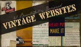 40 Beautifully Designed Vintage Websites