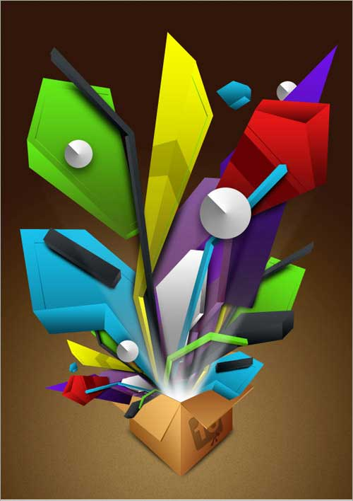 3d fake abstract object