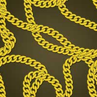 create vector gold chains
