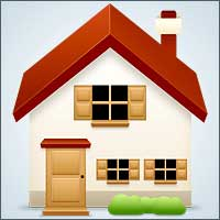 basic house icon made in photoshop