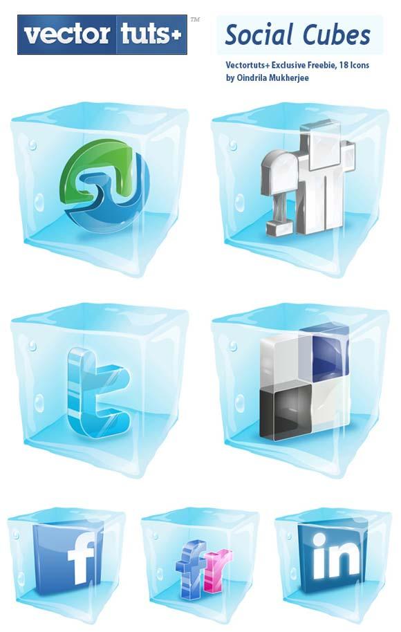 social cubes exclusive vectortuts pack