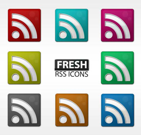 fresh Simple Rss icon set
