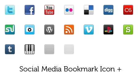 free social media bookmark icon pack