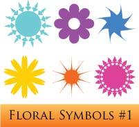 Freebie: Illustrator Floral Symbols #1