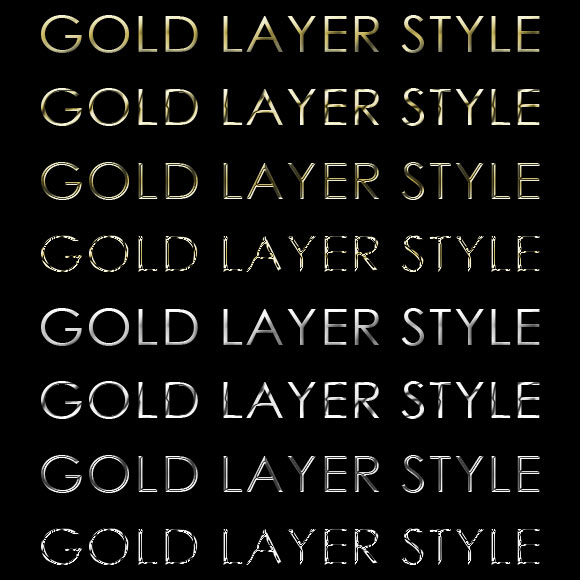 gold and silver layer styles