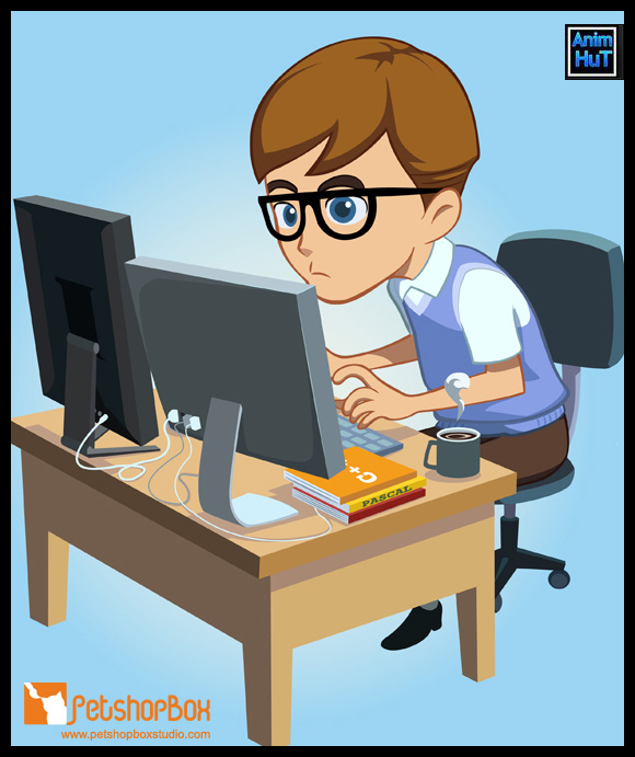 Free Vector Character – The Programmer - AnimHuT
