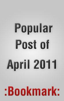 Popular Tutorials, Articles and Freebies of April 2011