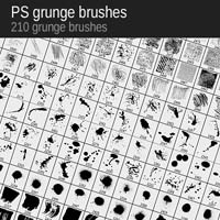 Win 210 Grunge Brushes from VectorPack.net (x5)
