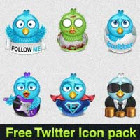 Fresh Twitter Icon Pack for Bloggers and Webmasters