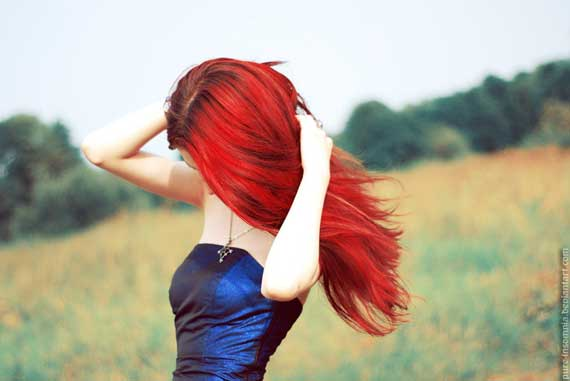 Attractive Red Hair Model Photography