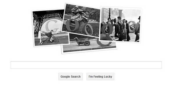 Today's Google Doodle: Robert Doisneau 100th birthday