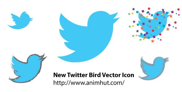 Download 2012 New Twitter Bird CS6 Vector Icons