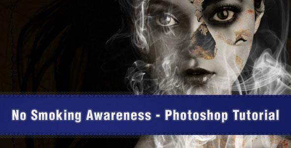 No Smoking Awareness – Photoshop Poster Design Tutorial