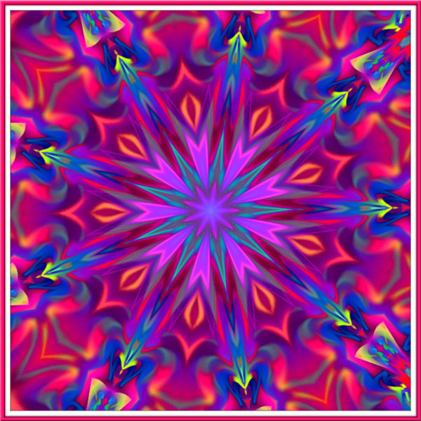 colorful kaleidoscope abstract design for inspiration