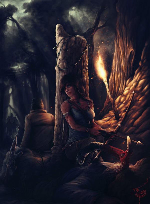 Lara Croft Tomb Raider Reborn by illustrationoverdose on