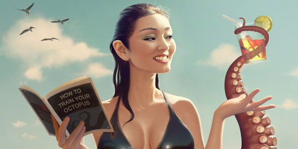 Daily Inspiration: Pin-Up Girls and Caricatures by Serge Birault