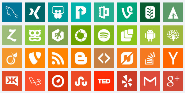 Complete Set of Flat Social Media Icons [PSD Included]