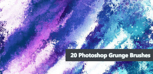Download 20 Photoshop Grunge Brushes