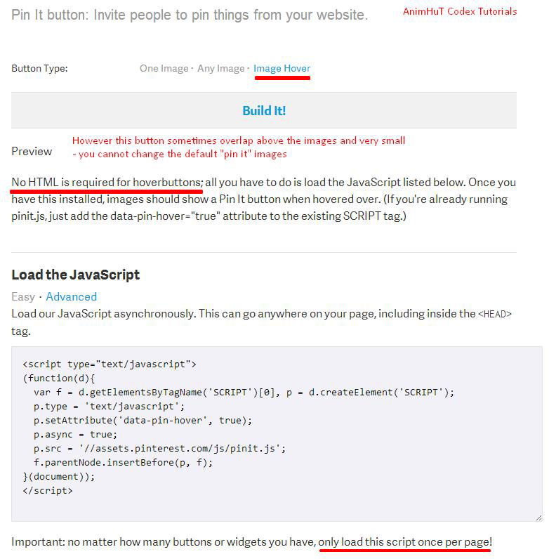 Instead of using Image hover user our Pinterest New Code