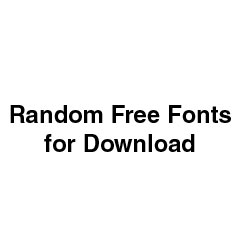 Download Random Free Fonts