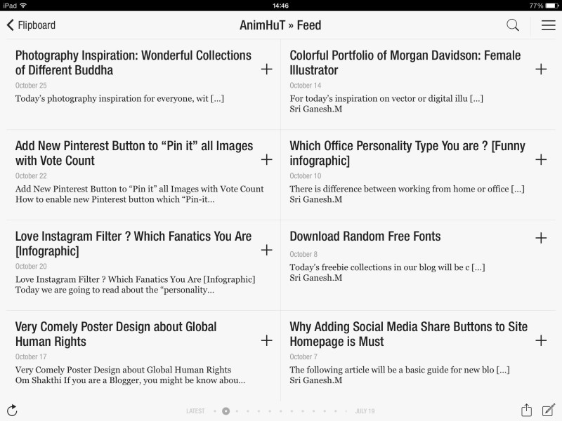old method to add blog to Flipboard